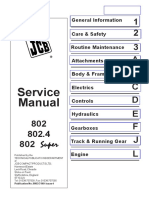 JCB 802, 802.4, 802 Super Mini Excavator Service Repair Workshop Manual