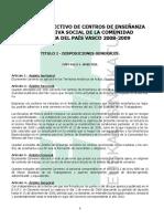 Convenio 2008-2009 Texto y Tablas