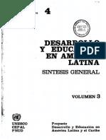 DESARROLLO Y EDUCACIÓN EN AMÉRICA LATINA, VOLUMEN3
