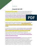 Venezuela Después Del 10E – Prodavinci -Michael Penfold