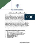 Guía de Estudio 2018-1 Pre-calculo 12vo