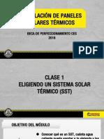 Clase 1 Eligiendo Un Sistema Solar Termico SST 2018