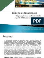 Direito a Informação - Teste de slide