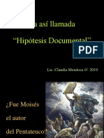2018  CMendoza   La si llamada hipótessis documental