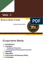 Topic - Unit I RBI