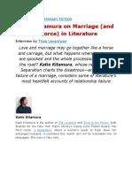 Katie Kitamura on Marriage (and Divorce) in Literature