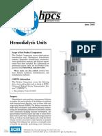 ECRI Hemodialysis Units