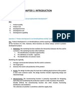Product Design And Development short note
