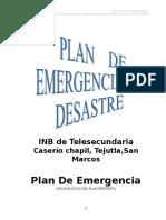 plan de Emergencia y Desastre