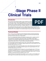 Two-Stage Phase II Clinical Trials