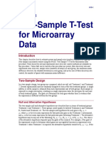 Two-Sample T-Test for Microarray Data