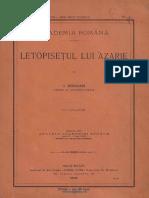 Bogdan, Ioan, Letopisețul lui Azarie.pdf