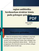 Pembagian Antibiotika Berdasarkan Struktur Kimia Pada Golongan Quinolon