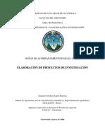Notas curso Elaboración de proyectos de investigacion