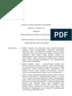 Undang-Undang Republik Indonesia Nomor  4 Tahun 2009 Tentang Pertambangan Mineral Dan Batubara