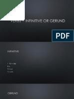 Verb+infinitive or gerund