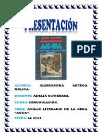 TRABAJO ACADÉMICO DE AGUA DE JOSE MARIA ARGUEDAS