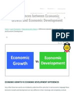 Top Differences Between Economic Growth and Economic Development