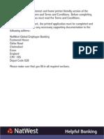 Global Employee Banking - UK Application Form