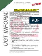 25 de Febrero de 2019 Nuevo Modelo Plantilla Oposiciones e Instrucciones
