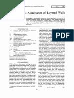 Davies -1973- The thermal admittance of layered walls.pdf