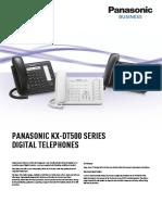 KX-DT500 Spec Sheet