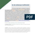 Conocimiento de Embarque Multimodal FBL