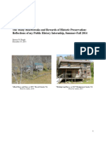 Public History Cert., Internship Reflection Essay (2014)