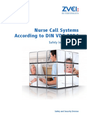 Zvei Brochure Nurse Call Systems According To Din Vde 0834 Pdf Telephone Call Power Supply