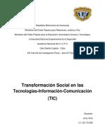 Transformación Social en las Tecnologías-Información-Comunicación (TIC)