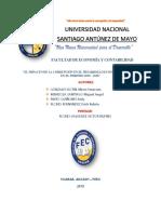 El Impacto de La Corrupción en El Desarrollo Económico Del Perú en El Periódo 2010 – 2016