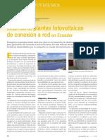 Desarrollo de Plantas Fotovoltaicas Ecuador