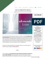 Fundamentos Del Diseño Gráfico - Los Elementos Base