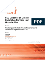 Keller Oct 2015 SEC Guidance on General Solicitation Provides New Opportunities (1)