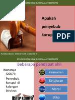 PENYEBAB KORUPSI
