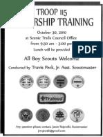 Troop Training Announcement 2010
