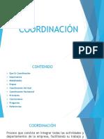 Coordinacion Del Proceso Administrativo