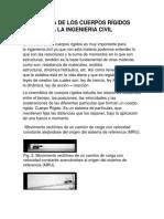 Investigacion Cinemática de Los Cuerpos Rígidos Aplicada a La Ingenieria Civil
