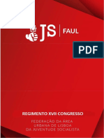 Regimento XVII Congresso JS FAUL