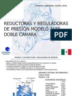 Reductora y Reguladora de Presión Doble Cámara 2130
