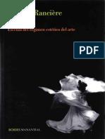 Ranciere, Jaques - Aisthesis. Escenas Del Régimen Estético Del Arte