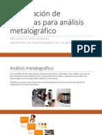 Preparación de Muestras Para Metalografías