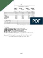 Exercicios de Calculo no Excel