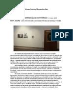 M.F.lambert. MNSR. Ciclo Ações Estéticas Quase Instantâneas