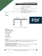 Analisis Struktur I - Soal Tugas 5 (2018-2019)
