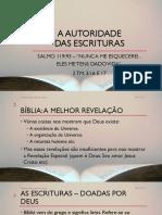 2017.01.08 - A Autoridade Das Escrituras