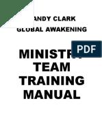 MANUAL DE TREINAMENTO MINISTERIAL