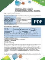 Guía de Actividades y Rúbrica de Evaluación - Actividad 1 Realizar Un Documento Sobre Los Conocimientos Previos Del Proceso de Investigación