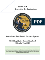 California Department of Justice  2018 Armed and Prohibited Persons program annual report