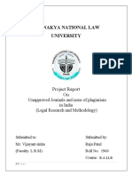 Unapprocved Journals and Plagiarism in India